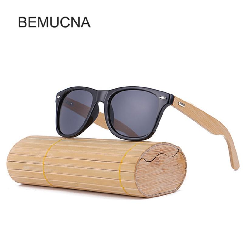 3da4132a7 2018 Nova BEMUCNA Mulheres óculos de Marca Óculos De Sol Dos Homens De  Madeira de Madeira de Bambu Óculos de Sol Das Mulheres/Homens Óculos de sol  masculin ...