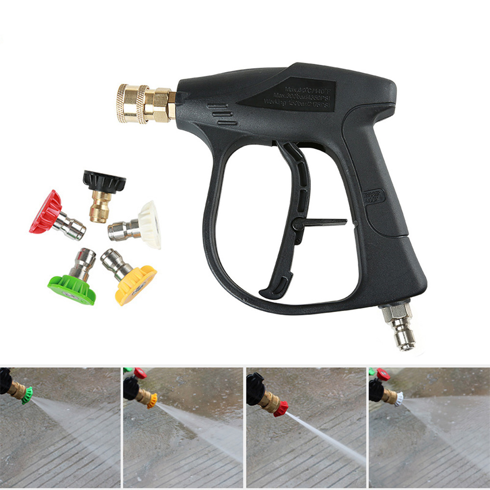 3 8 quot Quick Connector High Pressure Car Washer Gun Washer Gun With 5 Nozzles for Car Washers Water Gun Cleaning Tools in Water Gun amp Snow Foam Lance from Automobiles amp Motorcycles