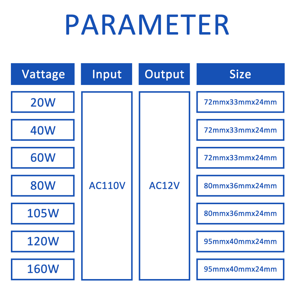 110 В электронды трансформатор 60W 120w 160W - Жарықтандыру керек-жарақтары - фото 6