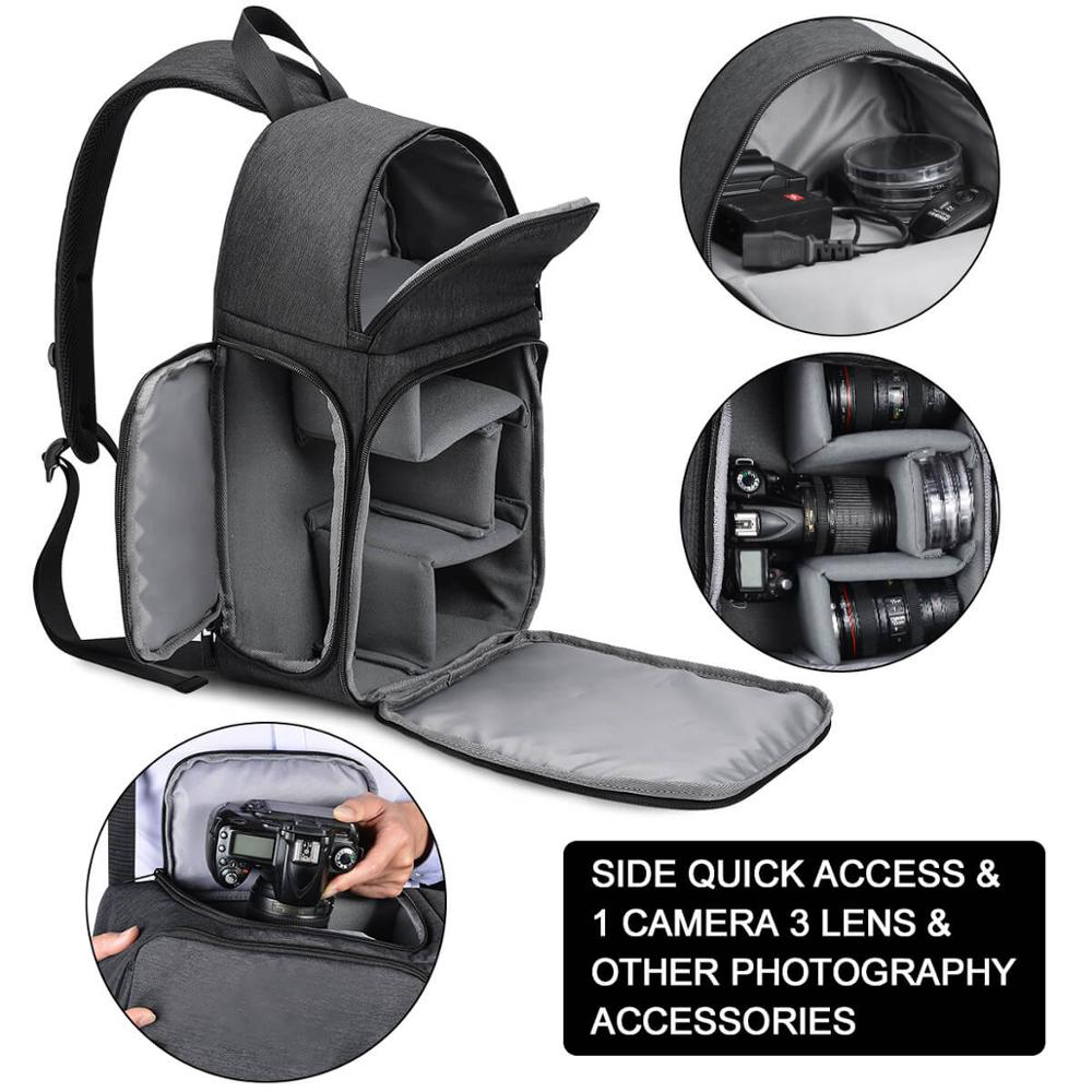 Image 5 - CADeN Photo Camera Sling Bag Shoulder Cross Digital Case Waterproof Rain Cover DSLR Soft Men Women Bag for Canon Nikon Sony SLR-in Camera/Video Bags from Consumer Electronics