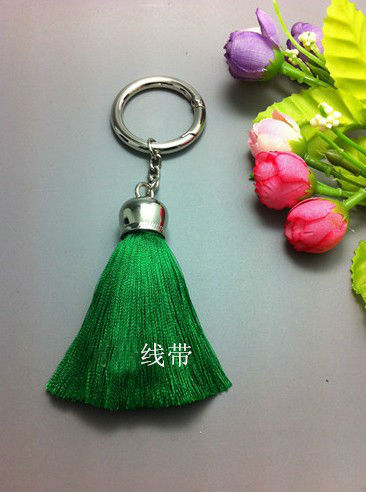 New Arrival High Quality Multicolor Silk Tassel Keychain Car Key Chain Key Ring Women Bag Accessories Pendant