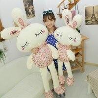 Big size Śliczne Kawaii Pluszowe Piękny Kwiatowy Królik Lalka poduszki Prezent Ślubny na Sprzedaż pluszowe zabawki lalki dla dzieci prezent
