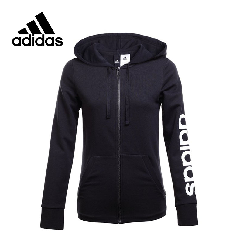 New Arrival Original Adidas ESS LIN FZ HD Women's jacket Hooded Sportswear толстовка ess hooded jacket tr