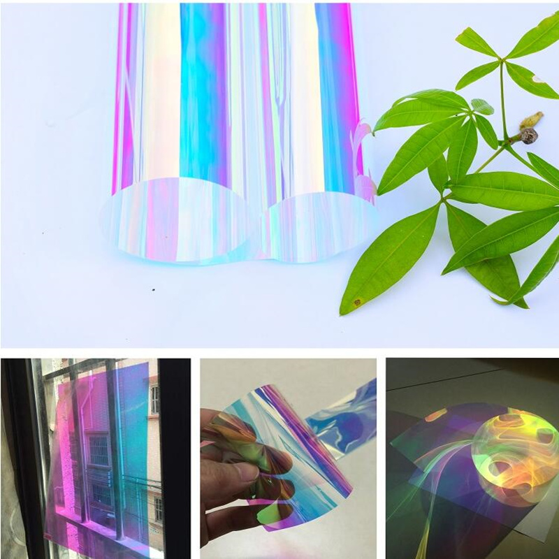 Chameleon Building Window Tint Films Rainbow Effect Privacy Window Sun Shade Self-Adhesive Glass Vinyl 4 Size Choosen