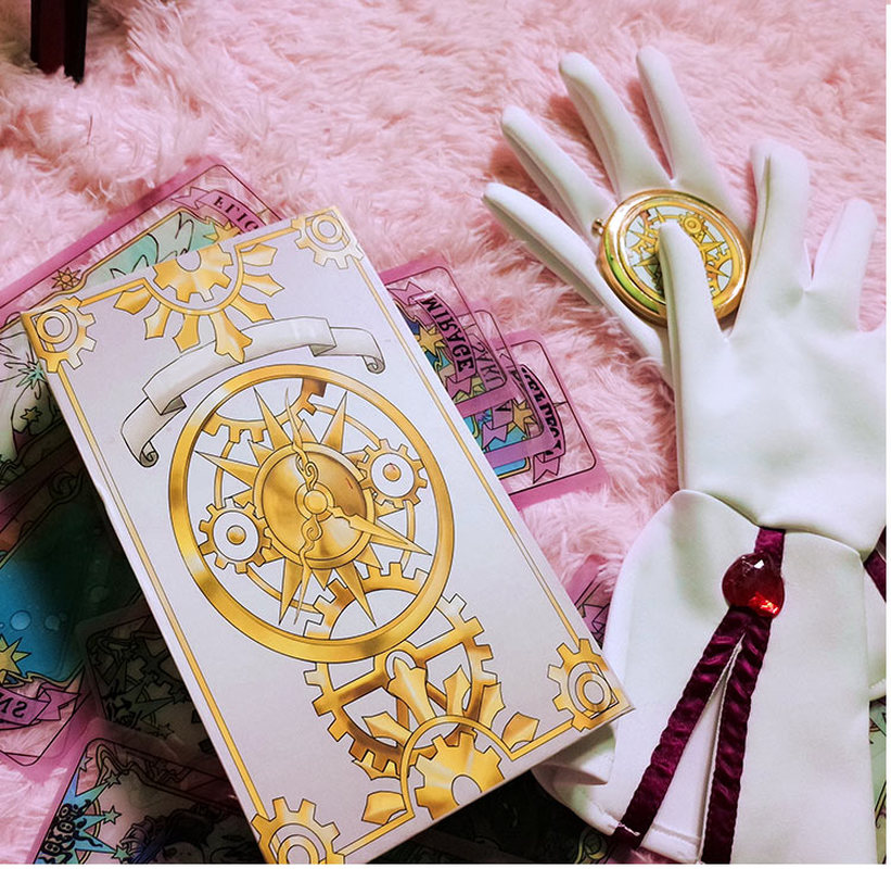 Japanese Anime Card Captor Kinomoto Sakura Tarot Cards Clear Card Cardcaptor Transparent Acrylic Magic Clow Cards Cosplay Props Factories And Mines Costumes & Accessories Costume Props