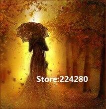 Iğne, nakış, DIY ağacı şemsiyesi altında insan çapraz dikiş kitleri, sanat desen sayılan çapraz dikiş dekor