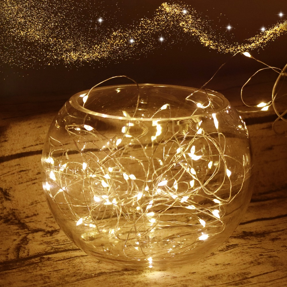 2/3/4M LED String Light Holiday Luminary Waterproof Copper Sliver Christmas Ramadan New Year Party Fairy Decoration Lights JQ