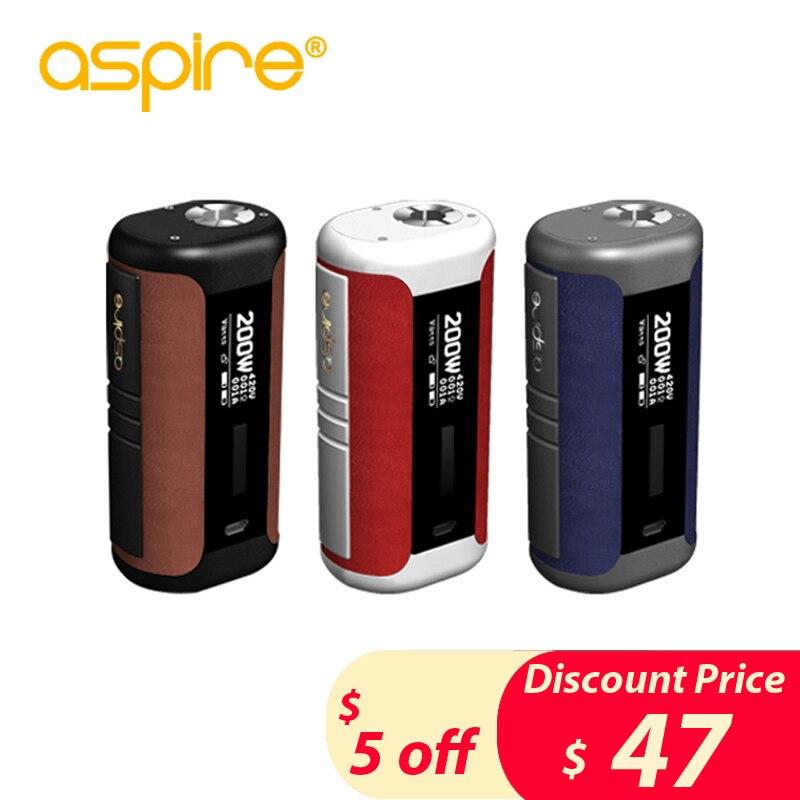 Original Aspire Speeder Mod 200 W Vape cigarrillo electrónico Vape Mod cabe Revvo tanque alimentado por batería Dual 18650 caja mod