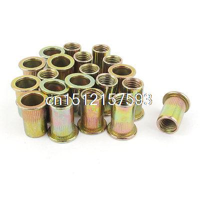 20pcs Flat Head Metric Steel M10 Blind Insert Rivet Nut Rivnut