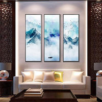 YongHe Home Decorative Spray Oil painting Chinese Snow Hills Customizable Composition Poster Wall Pictures For Decorate Bed Room