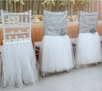Outdoor Lawn Wedding Bamboo Chair Covers New Year Sash Ribbon Chair Covering Decoration