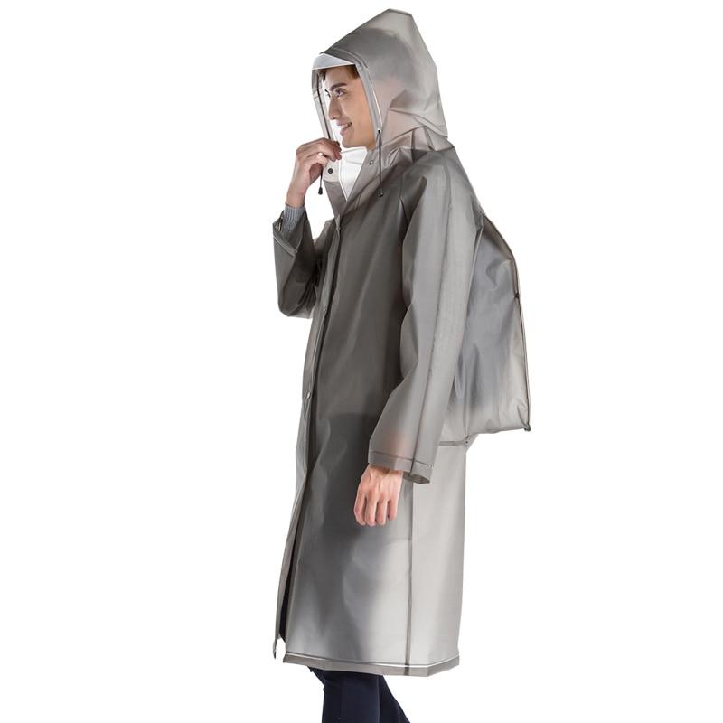 Unisex ladies men Waterproof Plastic Thick long backpack Rain coat jacket Rainwear Poncho Hiking Hooded Schoolbag Raincoats