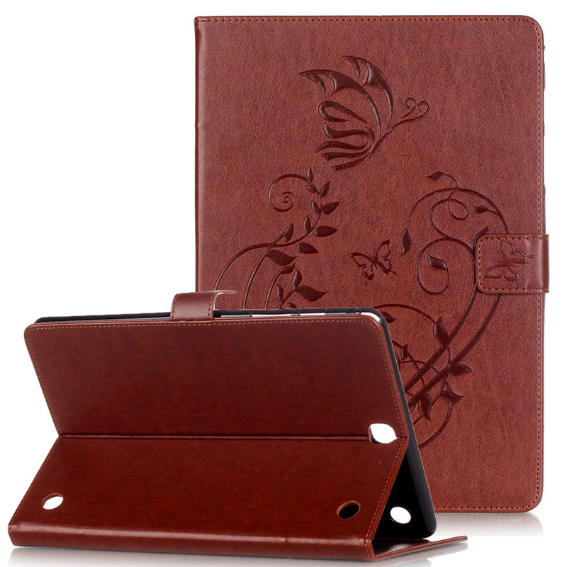 WeFor Cover Silicon Leather Case for Samsung Galaxy Tab A 9.7 SM-T550 T555 Flip Book Style Stand /w Card Holder [Painting]