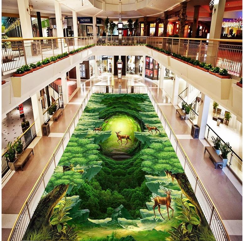 3d flooring Animal World 3D dimensional painting the forest floor painting 3d floor painting wallpaper beibehang 3d floor decoration painting 3d ocean world floor sea water ripple 3d floor painting pvc anti skid durable floor