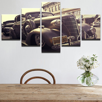 Canvas Modular Pictures Frame 5 Panel Car HD Printed Wall Art Painting Popular Picture For Living Room Decoration Poster