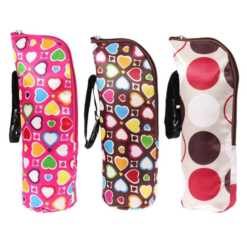 حقيبة عازلة للحرارة للأطفال مزودة بزجاجة لإطعام الطفل وزجاجات من الحليب مزودة بترمس