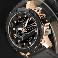 NAVIFORCE Luxury Brand Men Military Sport Watches Mens LED Analog Digital Watch Male Army Leather Quartz