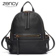 Zency Винтаж Для женщин рюкзак 100% Пояса из натуральной кожи мини школа моды Дорожные сумки для Обувь для девочек высокое качество Mochila женственный
