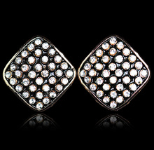 MMS New Fashion accessories sparkling Crystal square stud earrings for women