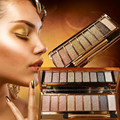 Sexy Lady 9 Color Diamond Glitter Eyeshadow Palette Dazzle Bright Handy Eye Shadow Brush Stage Eye Makeup Cosmetic Box Maquiagem