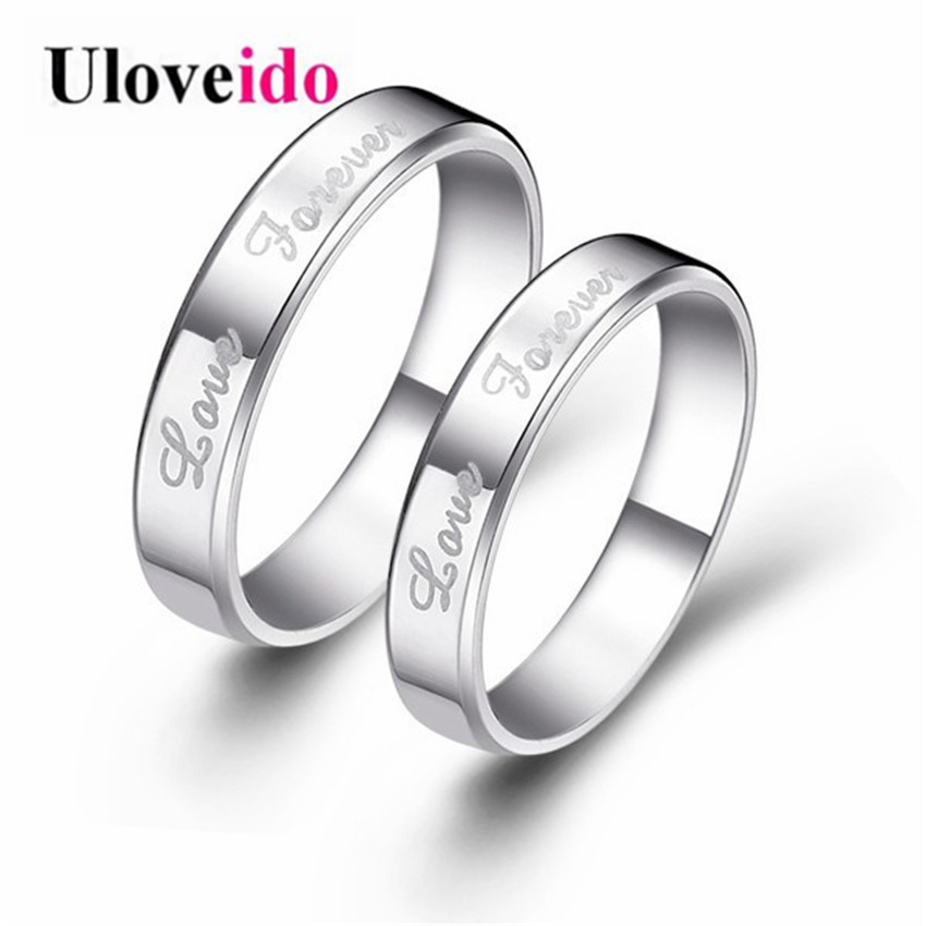 steel romantic party engagement in for jewelry from rings bands item couple wedding gold stainless color lover
