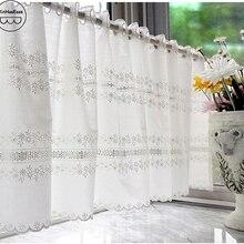 XinHuaEase вышивка кружева окна балдахин короткая пасторальная кофейная занавеска для кухни Декоративные половина занавески s Висячие в дверном проеме