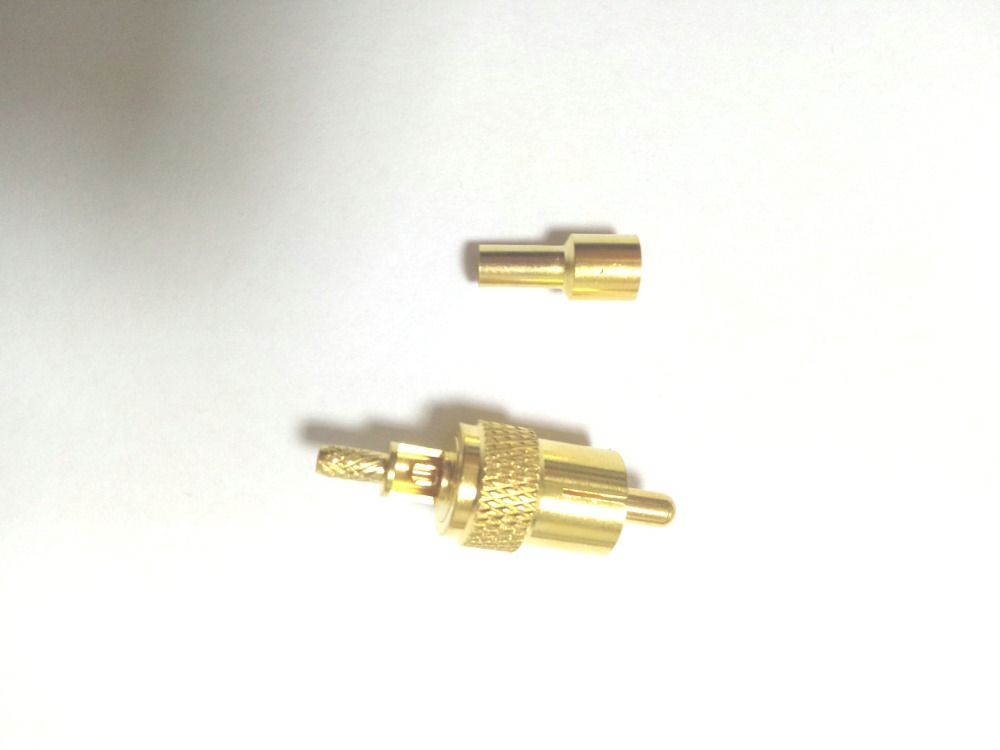 100pcs Gold plated brass RCA Male Coax Cable Connector for RG174 RG316 Cable