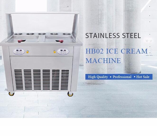Бесплатная Доставка 2 плоских панорамирования и 5 ведра Жареное мороженое рулонной машины, жареные ice roll Пан машины, жареное мороженое машин