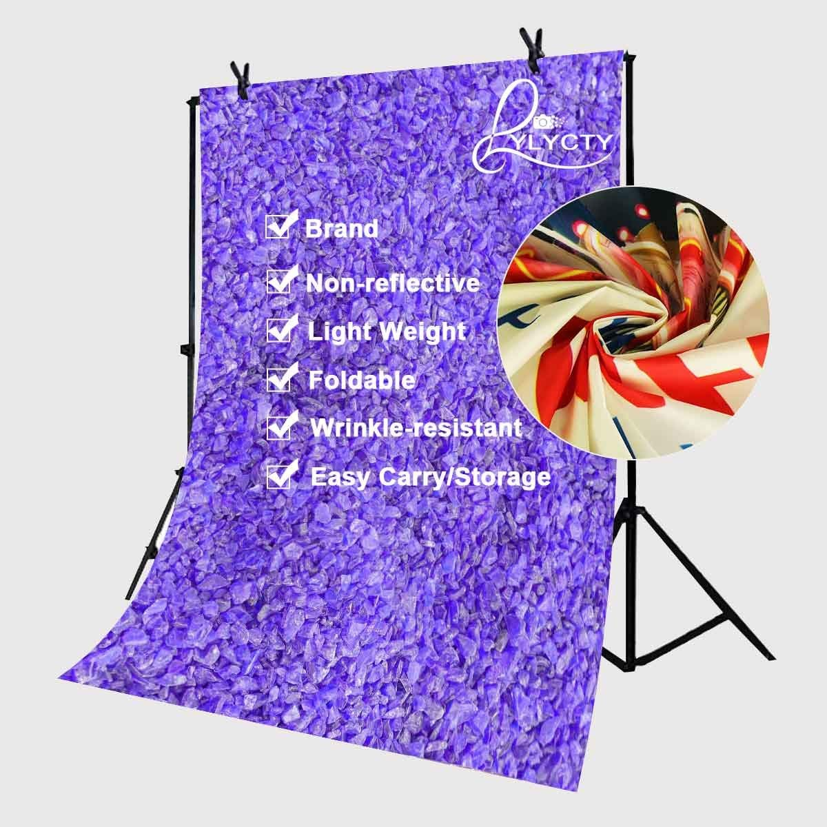 5x7ft Color Stone Photography Backdrop Ultra Violet Photo Studio Background Props Pantone 18 3838 in Photo Studio Accessories from Consumer Electronics