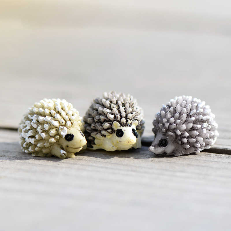 3pcs/Set Mini Hedgehog Miniature Garden Fairy Bonsai Decoration Micro Landscape Garden Decor Figurines