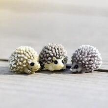 3pcs/Set Mini Hedgehog Miniature Garden Fairy Bonsai Decoration Micro Landscape Decor Figurines