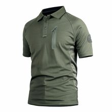 Men Outdoor Hiking T Shirt Tactical Camo T shirts Outdoor Camping Trekking Climbing Sports Tops Quick Drying Military Polo Shirt(China)
