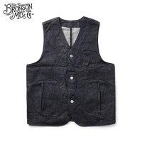 Bronson Denim Magic Pocket vest men's tide vest pocket Vests