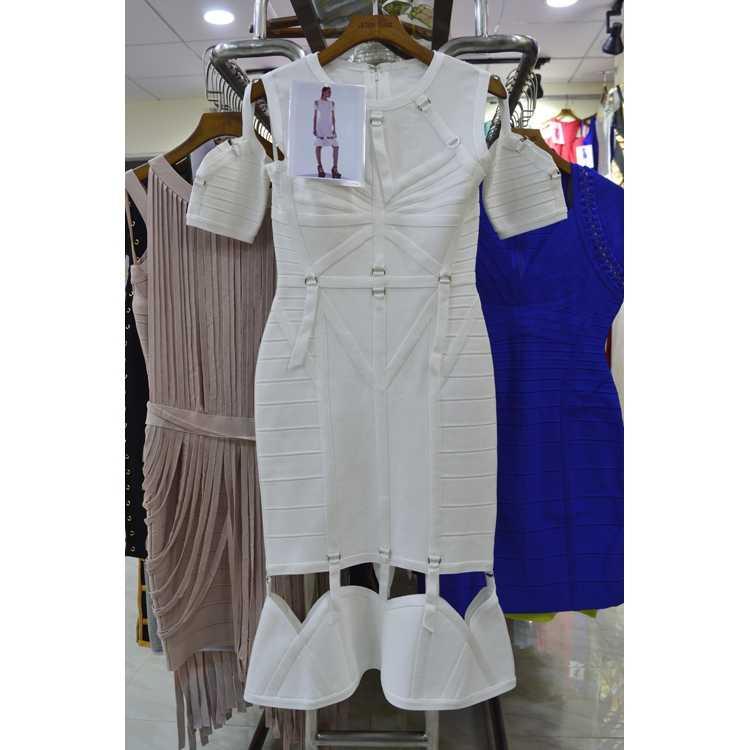 2018 с круглым вырезом, расшитое блестками белое Элегантное летнее Бандажное платье, облегающее платье с оборками, вечернее платье для знаменитостей, Женское Платье До Колена, новогоднее платье