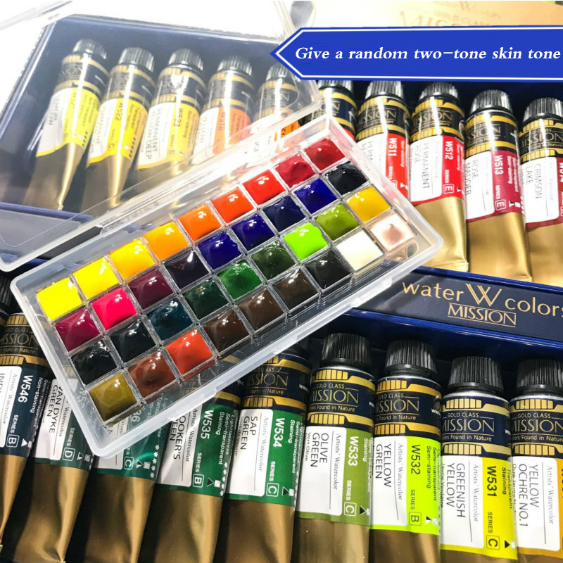 Korea Mijello Gold Master Color Koi Watercolor paint 34-colors water picture painting  Packing Disc Trial tray Dispensing plateKorea Mijello Gold Master Color Koi Watercolor paint 34-colors water picture painting  Packing Disc Trial tray Dispensing plate