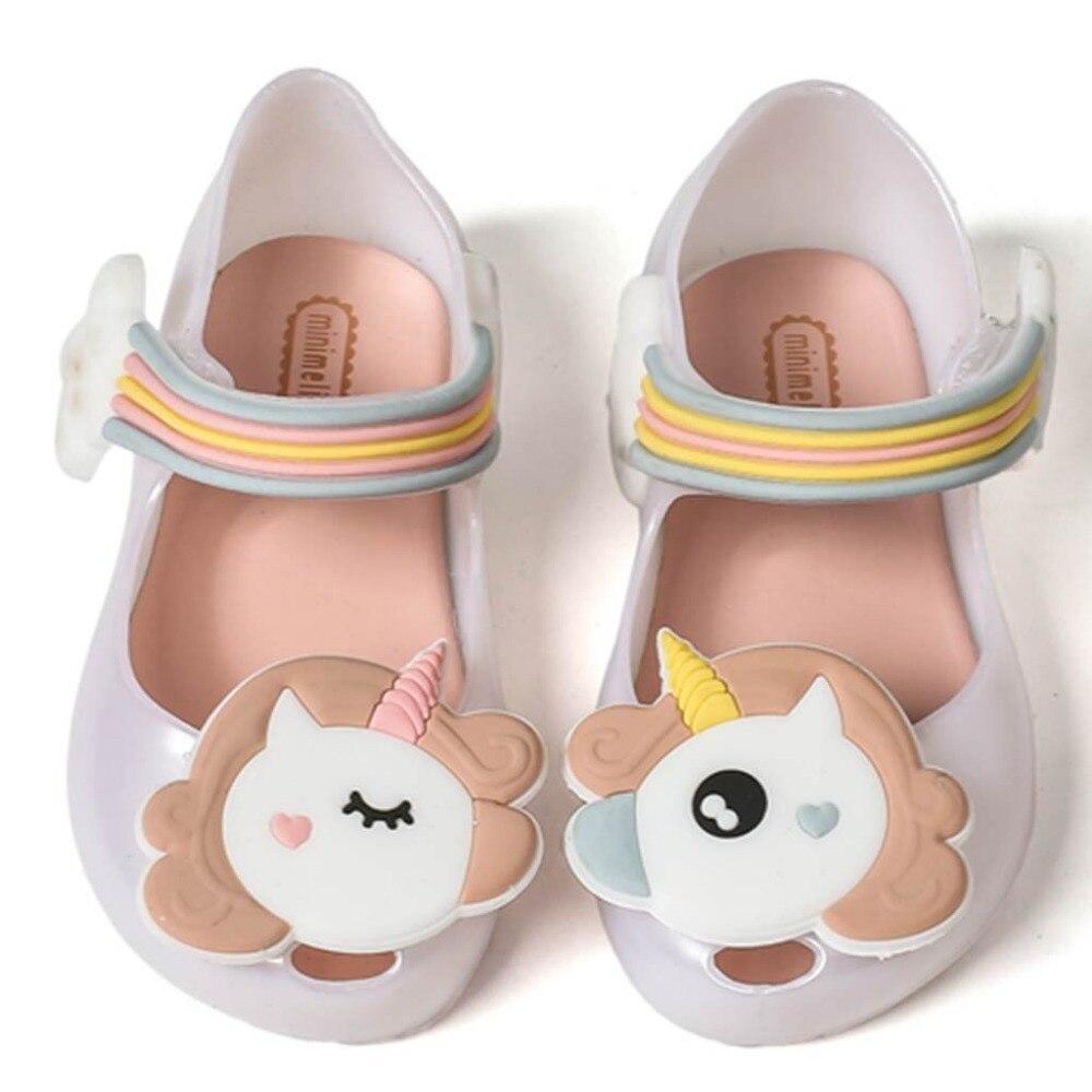 Unicorn Shoes Toddler Sandal Non-Slip Free-Girl Kids Cute 12pairs 13-18CM Fish-Mouth