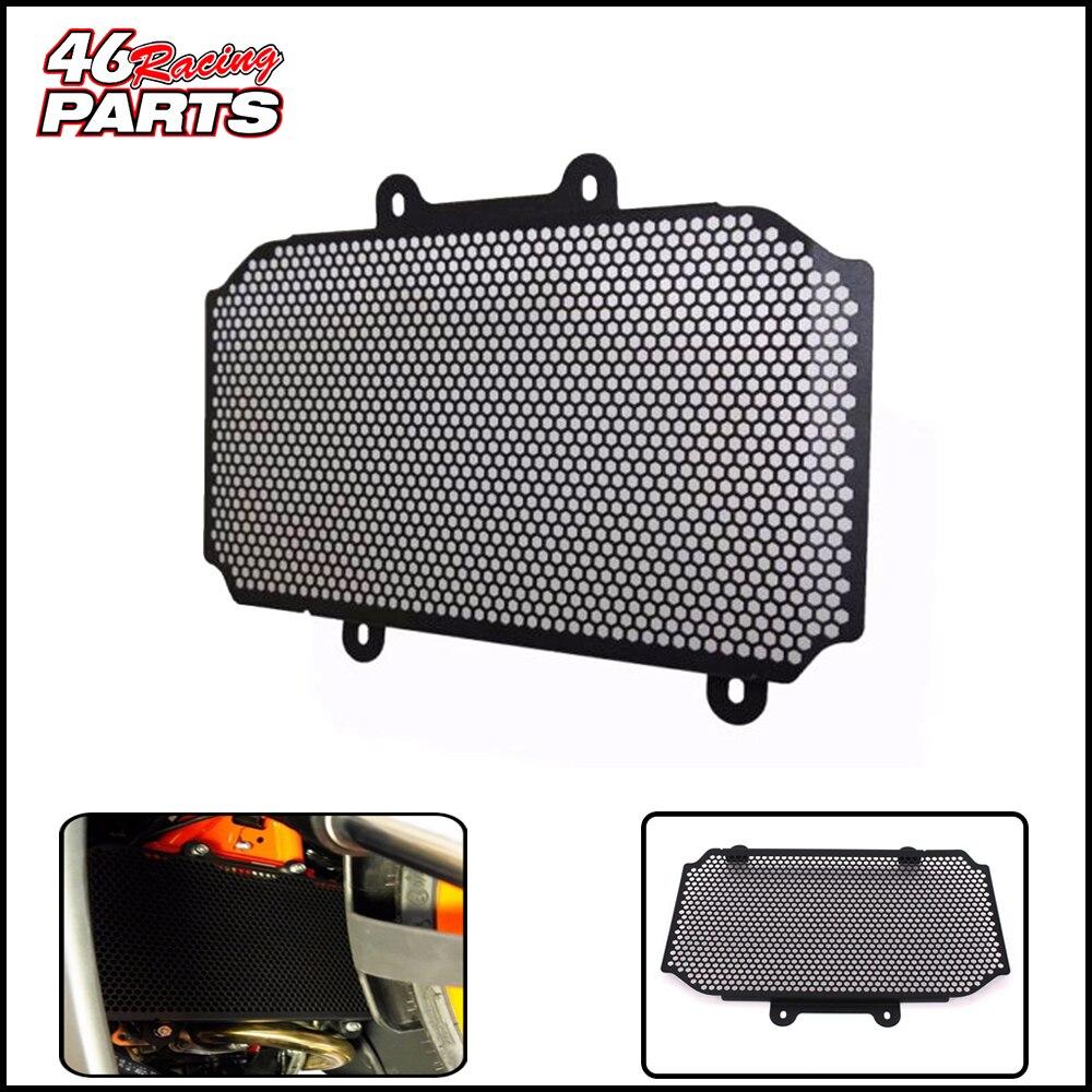 Noir moto accessoires radiateur garde protecteur Grille gril couverture pour KTM RC125/RC200/RC390 RC 125/200/390 2014-2017