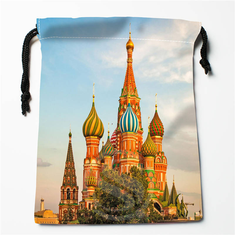 V#bH69 New Russia Moscow Houses Custom Printed  Receive Bag Compression Type Drawstring Bags Size 18X22cm 7=12JvH67