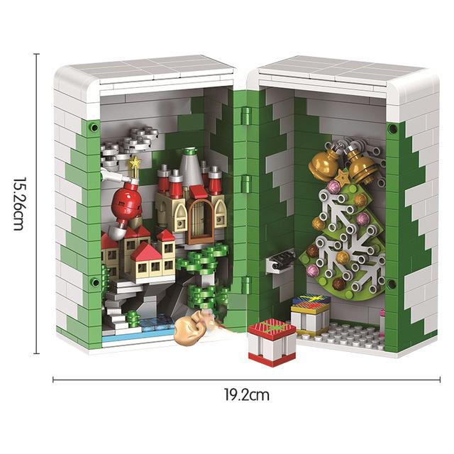 Creative Winter Series Christmas Gift Box Building Blocks Christmas Friends Kids Educational Bricks Kits Toy