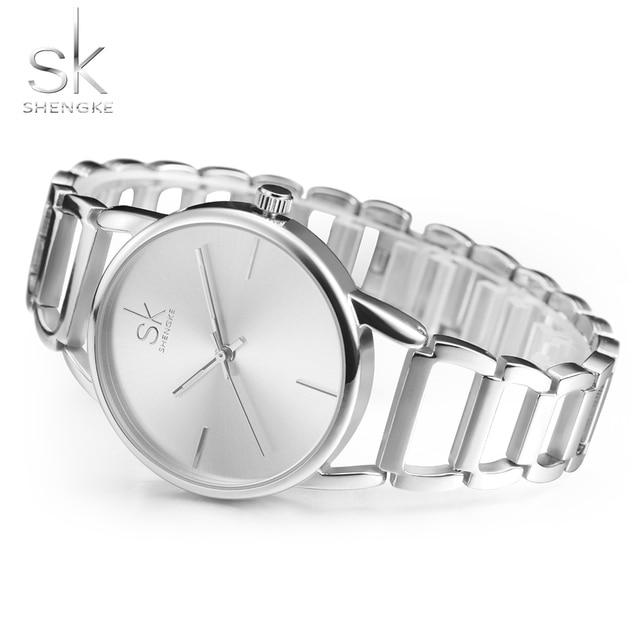 SK Quartz Watch Women Watches Ladies Brand Luxury Famous Gold Silver Wrist Watch For Female Clock Montre Femme Relogio Feminino