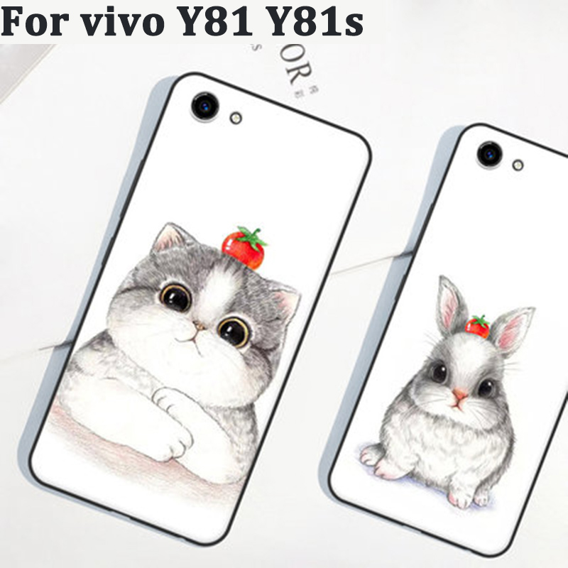 2PCS For vivo Y81 case cover cartoon soft phone cases For vivo Y81 Y81s case cover shell For vivo Y 81 Y81 s fundas coque