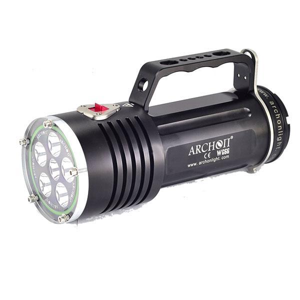 ARCHON DG60 LED Diving Flashlight 6 x CREE XM-L2 5000 Lumens by 6x18650 Battery archon 34vr 2600lm 6 mode flashlight w 4 x cree xm l2 white 2 x xp e n3 red purple uv 1x32650