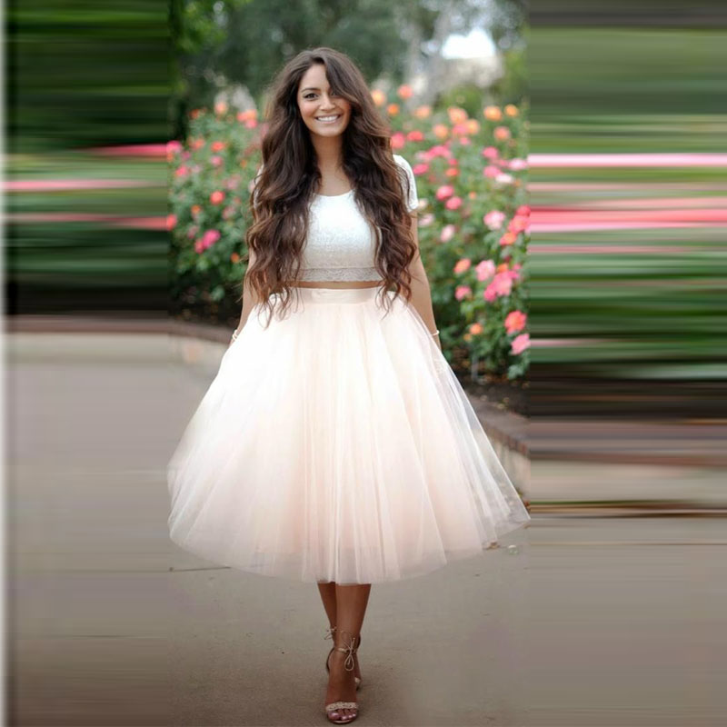 Aliexpress.com : Buy Vintage Women Tulle Skirts Blush Pink Extra ...