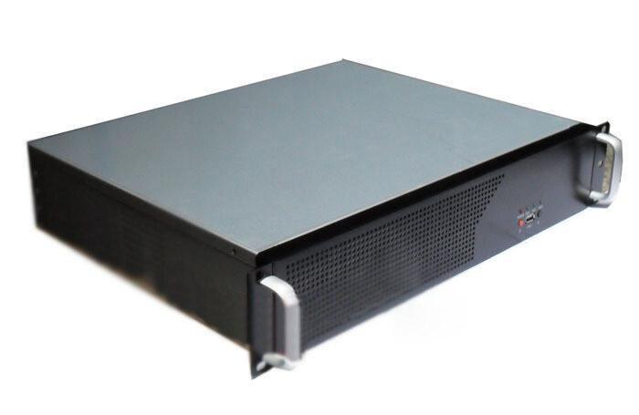 Short 2u computer case 2u industrial computer case 2u server 3 fan 3 hard drive aluminum panel quality