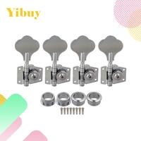 Yibuy 4R Chrome גיטרה בס מכונת Heads מקלט רדיו/כפתור אוזן פיל