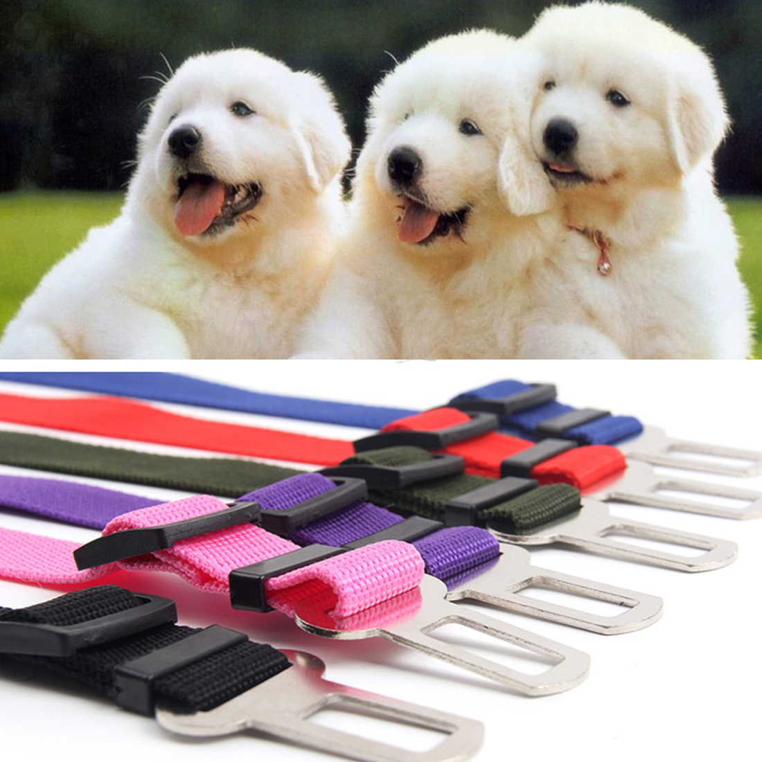 Best Sell Safe Leash for dogs Vehicle Car Seat Belt Seatbelt Harness Lead Clip 1Pc Pet Supplies