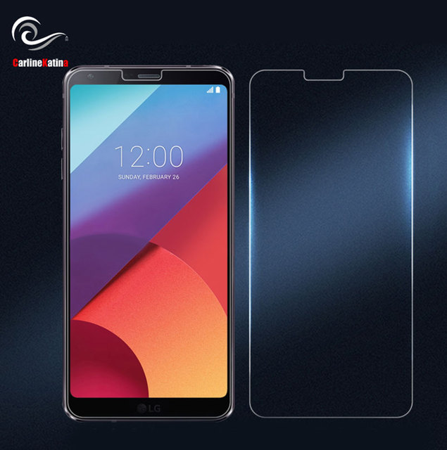 US $0 61 |Top 9H Tempered Glass Screen Protector For LG G7 ThinQ G6 V30  Plus G4 G5 V20 K10 2016 2017 Q6 V10 FRONT film Guard Case Bag-in Phone  Screen