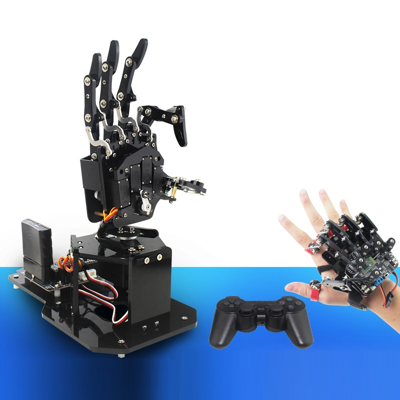 Open Source Bionic Robot Hand Right Hand Five Fingers for STM32 Version + Wearable Mechanical Glove