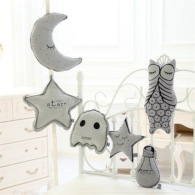 Детские Мягкие Детские Игрушки Мягкие Успокоить Плюшевые Куклы стат луна сова мигающий светиться в темноте подарок ребенку милый творческий