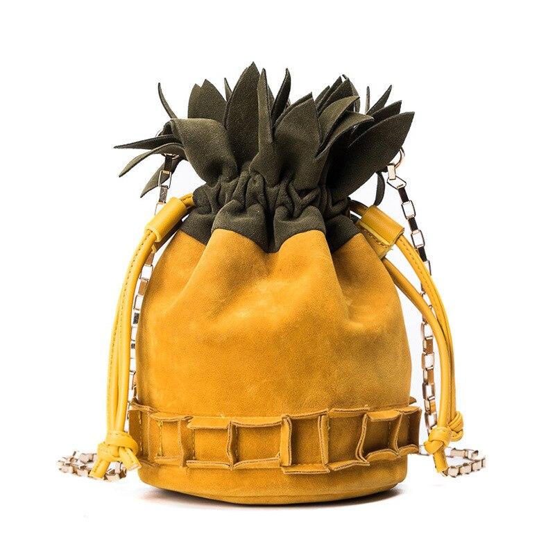 Donne Femminile Dell unità Sacchetto Borse In 2018 Frutta Elaborazione Bag  Spalla Ananas Delle Della Inverno Crossbody Del Cuoio Pelle Scamosciata Di  ... d8954c6475e